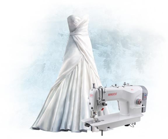 Подшив свадебного платья