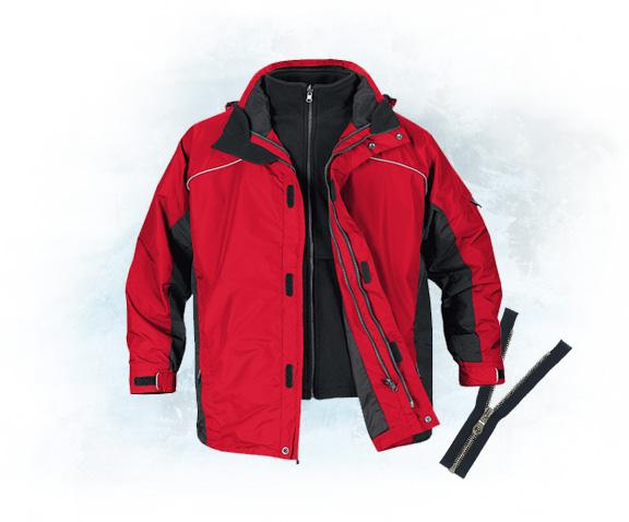 Замена молнии на куртке